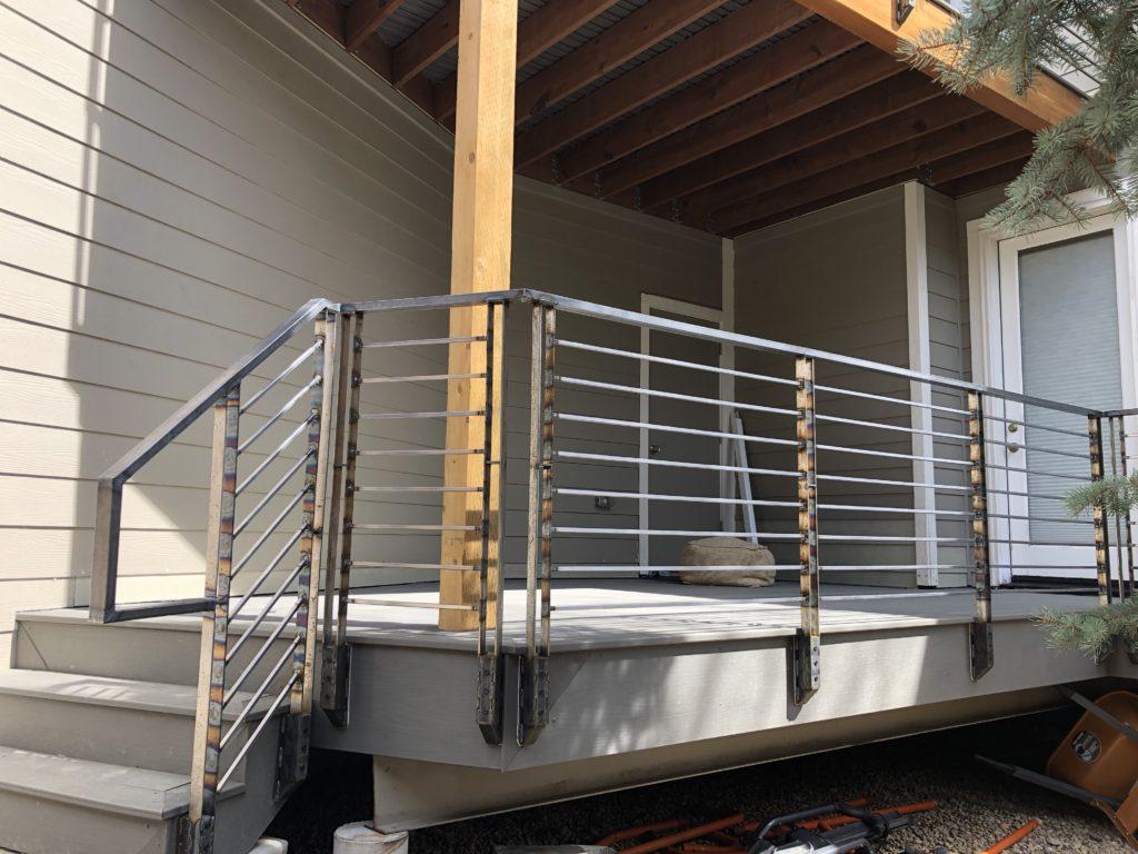 South Boulder deck railing on the southwest corner