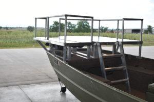 Aluminum boat deck